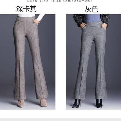 喇叭裤女春秋新款高腰显瘦休闲裤韩版宽松西裤喇叭裤子女裤