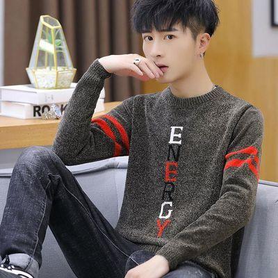 秋冬季毛衣男圆领学生青年韩版修身打底针织衫冬天加绒加厚毛线衣