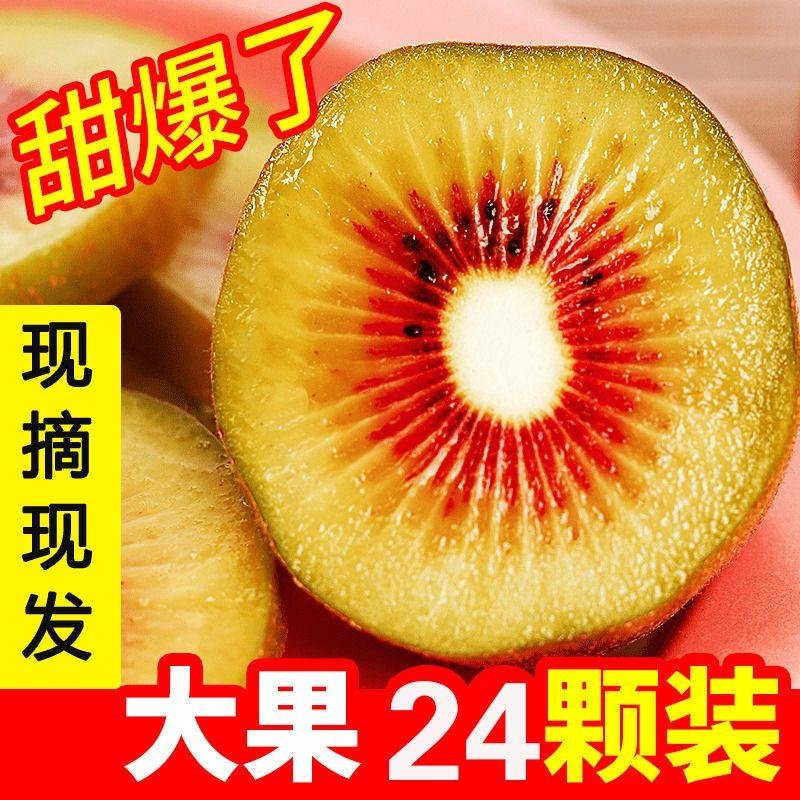 54220-【现摘现发】四川红心猕猴桃奇异果新鲜水果整箱包邮15-30粒装-详情图