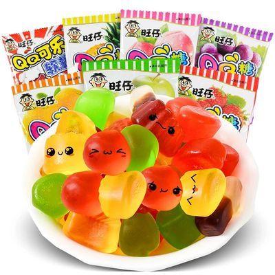 旺仔qq糖40包果汁软糖旺旺橡皮糖多口味组合儿童零食年货糖果批发