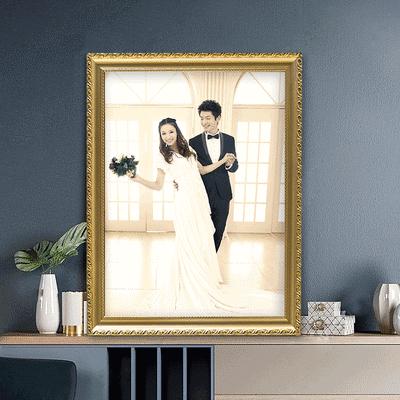 欧式画框架裱框婚纱照摆台7照片定制任意尺寸16寸2024相框挂墙10
