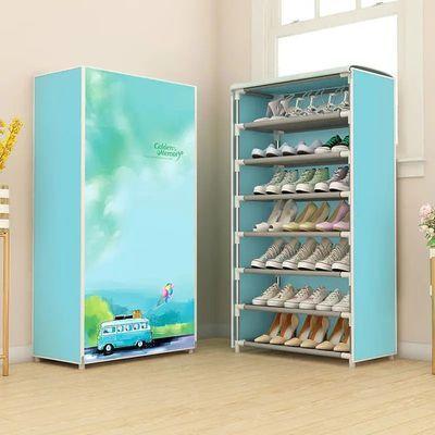 带拉链简易多层鞋架宿舍家用防尘布鞋柜门口组装鞋架收纳柜
