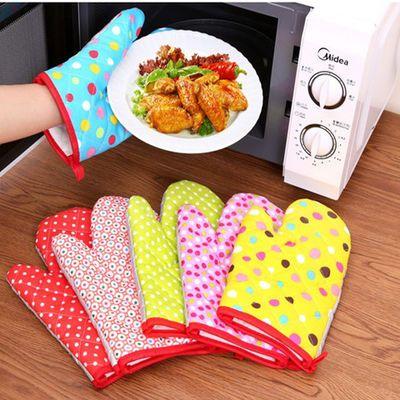 烘焙专用手套厨房耐高温手套 防烫手套加厚隔热烤箱 8只装