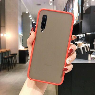 小米9手机壳防摔磨砂透明硅胶小米9全包网红新款硬壳可爱个性撞色
