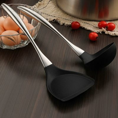 304不锈钢炒菜不粘锅铲子硅胶锅铲汤勺勺子家用厨房用品厨房用具