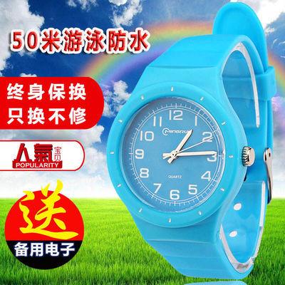 儿童手表女孩男孩防水韩国果冻表小学生手表电子表小孩手表石英表