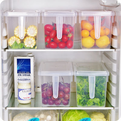 【买二送一买三送二】冰箱收纳盒冷冻食品水果保鲜盒密封储物盒子