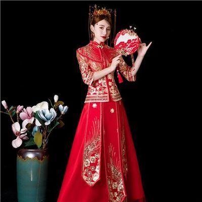 2020新款敬酒服红色秀禾服长款中式新娘婚纱宴会礼服喜服