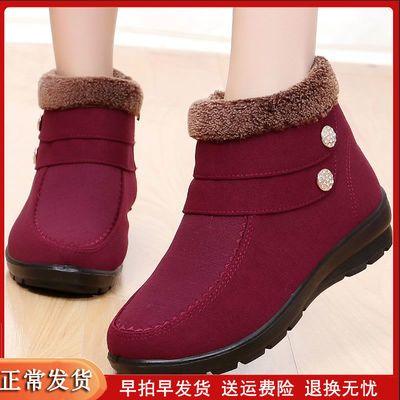 老北京布鞋女棉鞋中年妇女加绒女鞋平跟妈妈鞋子大码冬季雪地靴