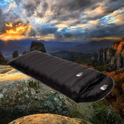 加厚四季羽绒睡袋鹅绒信封式保暖睡袋 户外羽绒超轻露营拼接双人