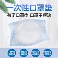 现货当天发一次性口防护病毒垫片罩替换片每天可更换透气防尘垫片