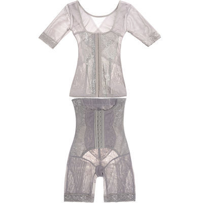 婷美诺雅收腹衣塑身分体套装产后收腹提臀束腰分体塑身衣两件套女