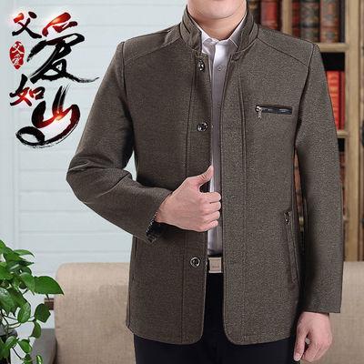 春季中老年男装外套春秋款爸爸装春装男2020新款中年男士夹克上衣