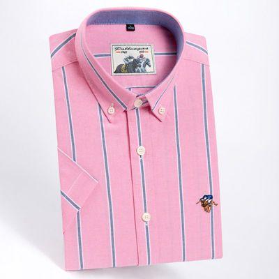 保罗夏季短袖纯棉牛津纺男士衬衫男薄款时尚休闲商务全棉高档男装