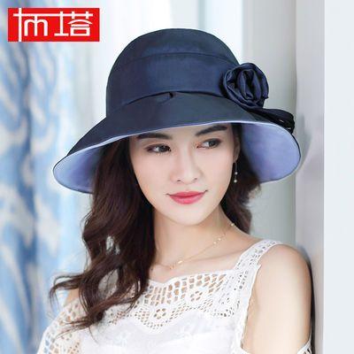 布塔帽子女夏天韩版遮阳帽防紫外线遮脸出游百搭太阳帽防晒凉帽
