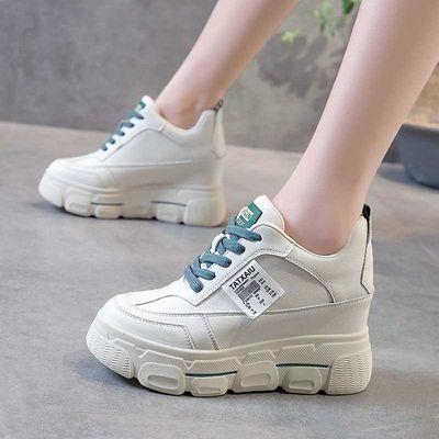 8cm内增高小白鞋女士春百搭小个子休闲学生运动鞋松糕厚底老爹鞋