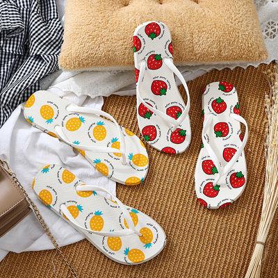 水果人字拖女防滑时尚外穿室内学生夹脚鞋居家洗澡浴室凉拖鞋夏天