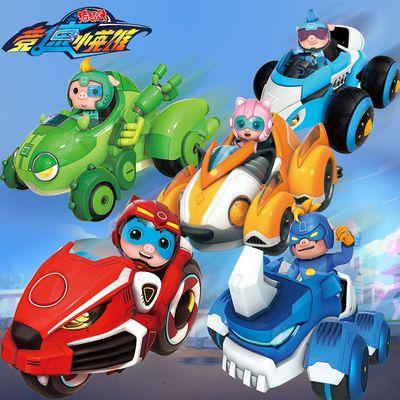 猪猪侠之竞速小英雄变形三变机器人召唤器超人强儿童玩具3-6