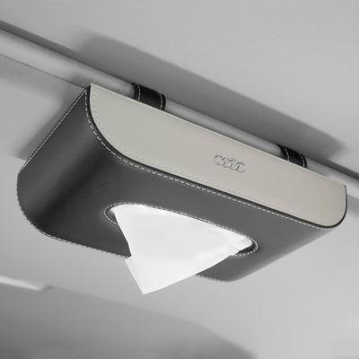 车载纸巾盒挂式遮阳板汽车用品天窗抽纸盒多功能创意座式纸巾盒