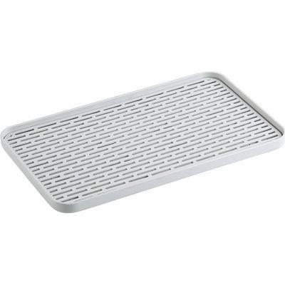 居家家 双层沥水盘塑料长方形置物架 厨房茶水托盘茶盘家用水果盘