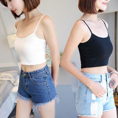 夏季小吊带背心漏肚脐短款露脐防走光工字背心女内搭外穿圆领上衣