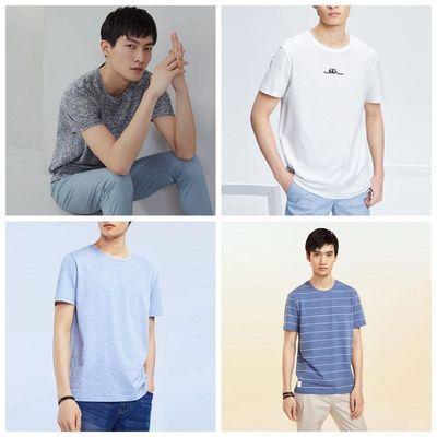 好男装圆领男士T恤衫短袖时尚棉质2020新款商务休闲时尚都市包邮