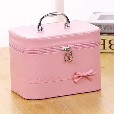 大号化妆包手提化妆箱简约旅行化妆品包收纳箱包便携化妆品收纳盒