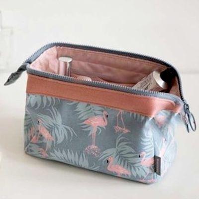 旅行化妆包韩国小号便携女化妆袋手拿大容量简约随身化妆品收纳包