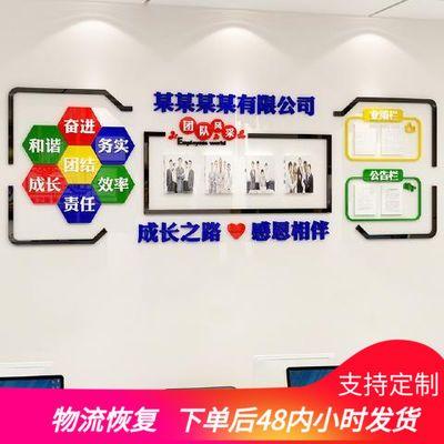 亚克力公告栏装饰公司文化墙办公室照片墙企业宣传栏墙贴励志贴纸