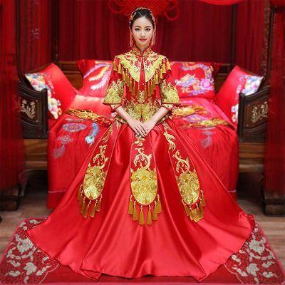 秀禾服新娘结婚礼服2020新款龙凤褂中式嫁衣红色敬酒服秀和服