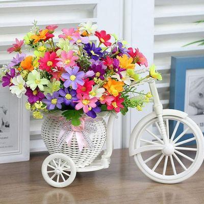 室内客厅餐桌摆设套装饰品仿真花车家居塑料假花小摆件干花束盆栽