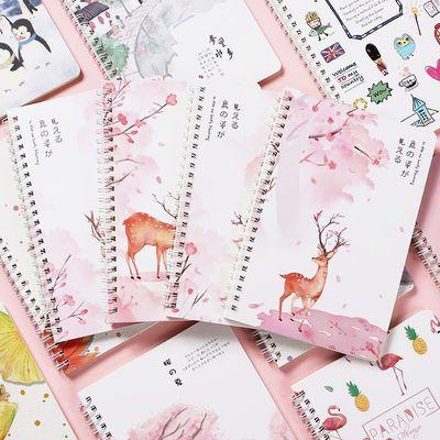 【送贴纸】ins网格本子网红线圈横线笔记本子记事本可爱韩版学生