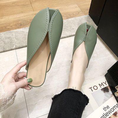 百搭时尚懒人包头凉拖鞋女夏韩版网红奶奶鞋潮流半拖沙滩鞋穆勒鞋