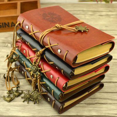 [两本送本芯]欧式复古本子旅行日记本创意涂鸦手帐本记事本笔记本