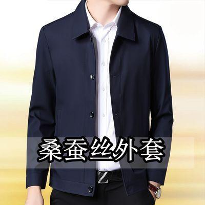 中年男装春季休闲薄款夹克爸爸装外套春秋中老年人男士春装上衣服