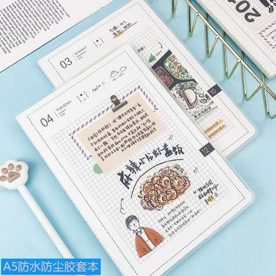 韩版可爱笔记本子小清新大学生A5加厚日记胶套本创意简约本子批发