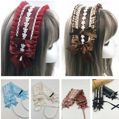 原创洛丽塔LOLITA甜美软妹发带二次元田园风格女仆发饰品头饰发夹