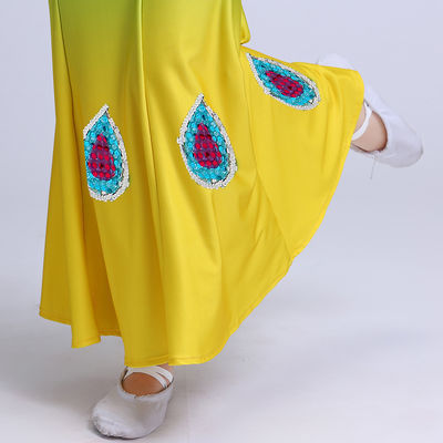 荷香艺梦儿童傣族舞蹈服孔雀舞演出服装学生女大童弹力亮片鱼尾裙