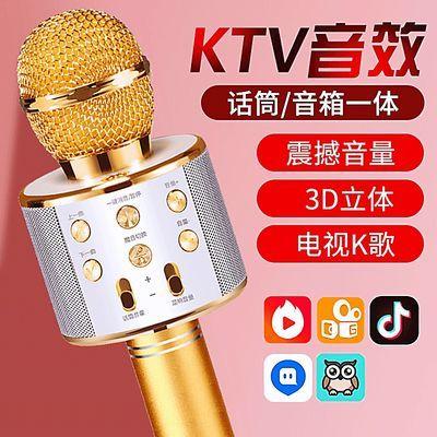 好音质】无线K歌话筒带音响蓝牙手机唱歌ws858全民直播麦克风神器