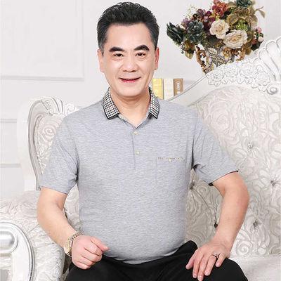 夏季中老年人男装短袖t恤夏装40-50岁中年男士半袖体恤衫爸爸装