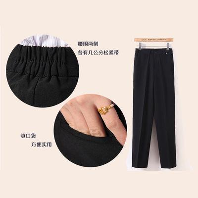 春夏季肯德基工作裤女黑色薄款酒店服务员工作裤修身直筒职业西裤