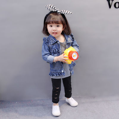 女童装春秋装2020新款6韩版婴儿童12个月8牛仔9外套0宝宝春季一1