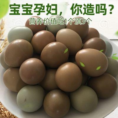 30枚新鲜散养土鸡蛋七彩蛋绿壳蛋柴鸡蛋贵妃鸡芦花鸡五黑鸡蛋60枚