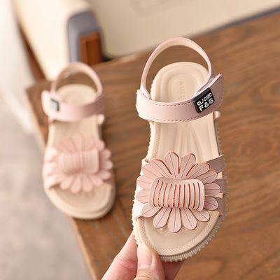 女孩童鞋2020新款女童韩版露趾学生公主鞋夏季时尚软底女宝宝凉鞋