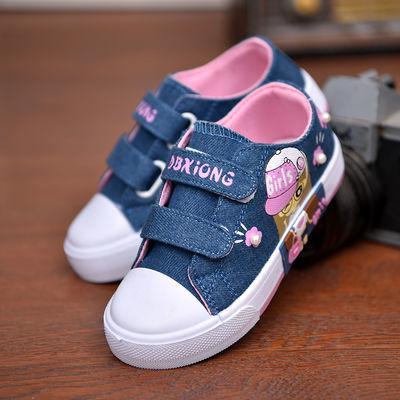 儿童男女童姐姐加绒旅游鞋系带包邮小女孩秋冬天加棉七八岁帆布鞋