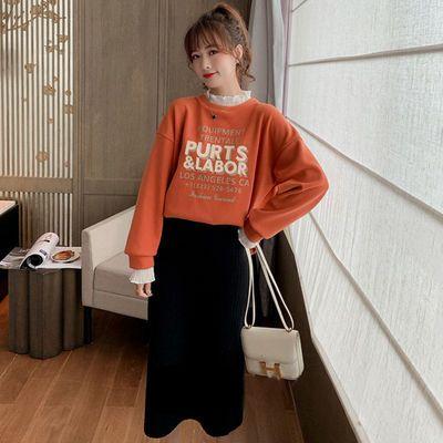 秋冬季新款韩版宽松卫衣女装加绒加厚ins潮套头长袖上衣外套百搭