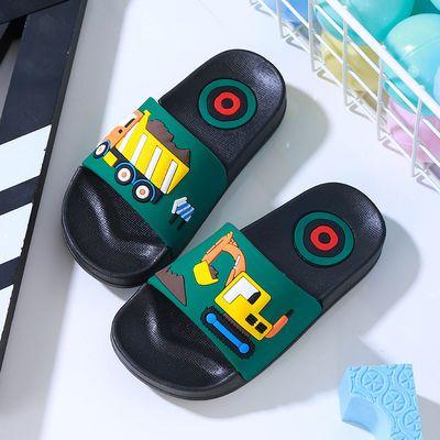 小孩拖鞋男儿童中女凉的子婴袜夏大季皮胶水晶宝夹脚社会天洞外穿