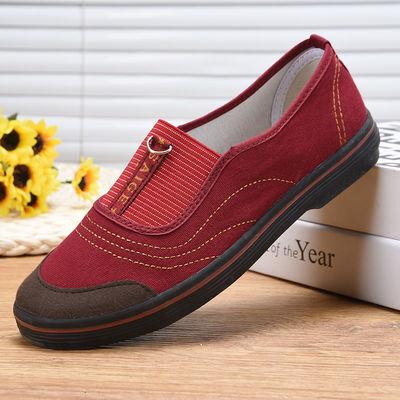 赛格女士老北京布鞋女正品奶奶鞋中年休闲工地干活穿的鞋子一脚蹬