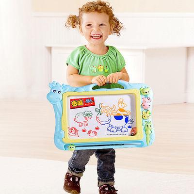 儿童画画板磁性写字板笔 彩色小孩幼儿磁力宝宝涂鸦板 1-3岁2玩具