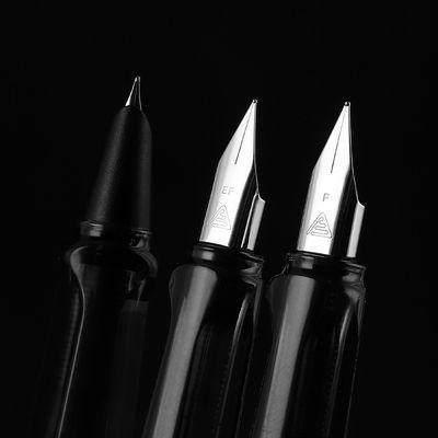 3支装烂笔头8037正姿钢笔中小学生成人练字书法特细可替换墨囊